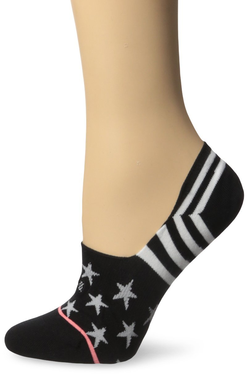 Stance Women's Heyoo 2 Super Invisible Low Cut Liner Sock, Black, Medium