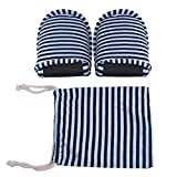 1 Pair Travel Foldable Slippers Anti-Slip with Drawstring Storage Bag for Home Hotel Flight Indoor Outdoor