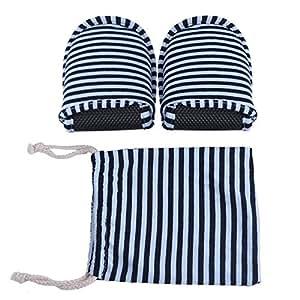 1par Zapatillas Plegables Antideslizantes con Bolsa de Almacenamiento para Viaje Casa Hotel Vuelo Indoor Exterior Talla 34-42EU ( Color : Blue Stripes for Men )