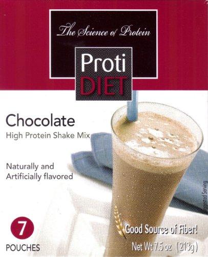 Proti Diet Chocolate Shake (7 sachets par boîte) Poids net 7,5 oz (213g)
