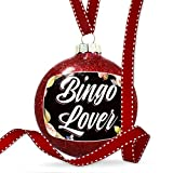 Christmas Decoration Floral Border Bingo Lover Ornament