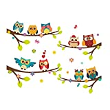 baby rooms for girls ElecMotive Wall Stickers of Tree Owls Wall Decals for Kids Rooms Nursery Baby Boys & Girls Bedroom