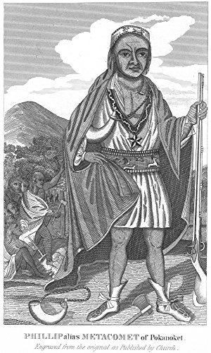 Philip (Metacomet) (D1676) Nnative American Chief Sachem Of The Wampanoags Line Engraving After Paul Revere Poster Print by (24 x 36)