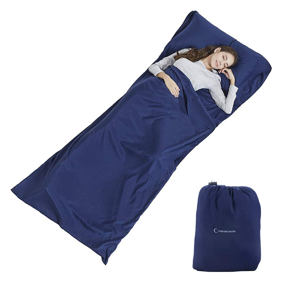 El forro del saco de dormir con bolsas de almohada previene las colecciones de ropa de