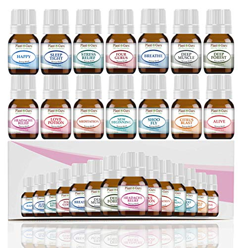 Essential Oil Blends Set 14-5ml 100% Pure Therapeutic Grade for Sleep,  Relaxation, Stress and Anxiety, Headaches and Migraines, Muscle Pain  Relief,
