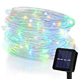 Solar String Lights 100LED Outdoor Waterproof Fairy Lights Landscape Lighting for Garden Patio Lawn Path Xmas Wedding Party Holiday Seasonal Decoration (Multi-color)