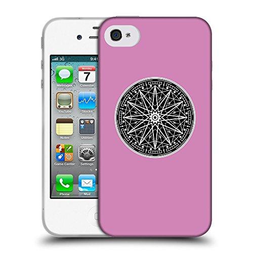 GoGoMobile Coque de Protection TPU Silicone Case pour // Q08330618 Mystique occulte 12 Bronze // Apple iPhone 4 4S 4G