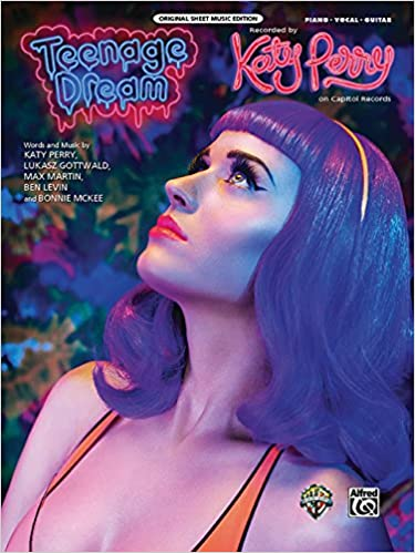 Teenage Dream Pianovocalchords Sheet Katy Perry Lukasz