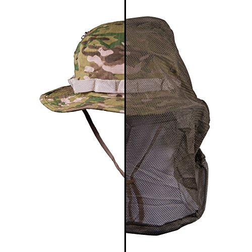 (TOFL Outdoor Anti-Mosquito Mask Hat - Unisex Outdoor Research Mask Hat with Head Net Mesh Face Protection - Great Sun and Bug Hat Protection (US Woodland Camouflage))