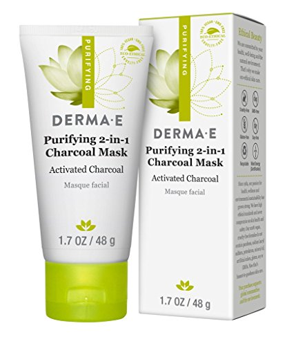 51wKwzrQb3L derma e Purifying 2-in-1 Charcoal Mask Face Mask, 1.7 Ounce