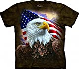 The Mountain Independence Eagle Adult T-Shirt, Brown, 3XL