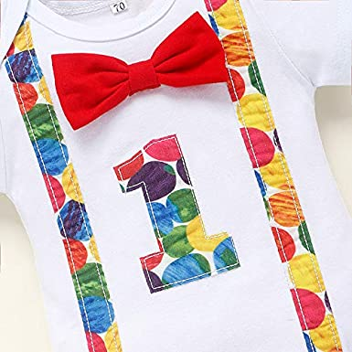Baby Boys 1st Birthday Cake Smash Outfit Hungry Caterpillar Bodysuit Bloomers Adjustable Y Back Suspenders Clothes Set
