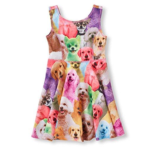 Z.D Girls 'sleeveless printing animals Dresses,Child5(5-6Y),  Dog (Animal Dress For Kids)