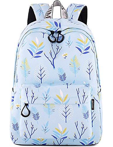 - School Bookbag for Girls Fashion Cute Laptop Backpack Travel Daypack Shoulder Rucksack Knapsack (Light Blue)