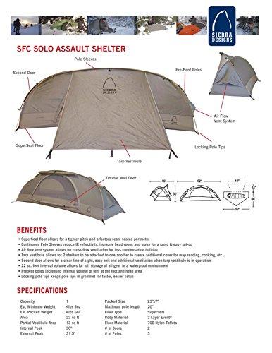 Save  sc 1 st  Desertcart & Sierra Designs SFC Solo Assault Tent: 1-Person 3-Season Berry One ...