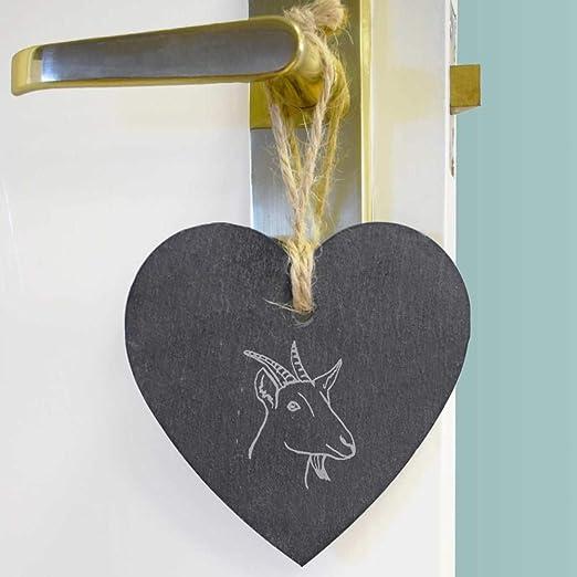 """/""""Moose Silhouette/"""" Ardoise Coeur Suspendu Décoration HE00013126"""