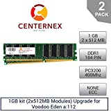 1GB kit (2x512MB Modules) RAM Memory for Voodoo Eden a:112 (PC3200 NonECC) Desktop Memory Upgrade by US Seller