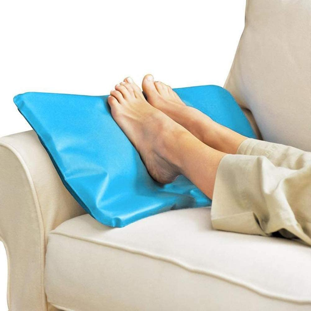 HQSC Oreiller Frais d/ét/é Ice Cold Oreiller de Massage Th/érapie Insert Sleeping Oreiller Chillow/® Aide Cou Gel Mat de Refroidissement Oreiller de Secours Pad 1pc Color : Blue