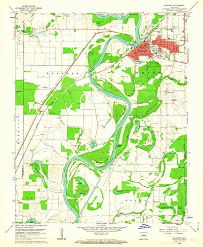 YellowMaps Newport AR topo map, 1:24000 Scale, 7.5 X 7.5 Minute, Historical, 1962, Updated 1963, 26.8 x 22 in - Paper
