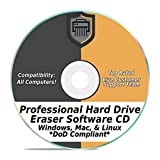 Software : Hard Drive Eraser Software Wiper Disk Professional Secure DoD Compliant SCSI CD Tool 32 / 64Bit for Windows - Mac - Linux Laptop or Desktop