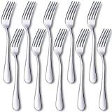 YC Modern 10-Pieces Dinner Forks, Stainless Steel Flatware Dinner Forks (#1 Forks)