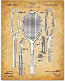 Tennis Racket - 11x14 Unframed Patent Print - Makes a Great Gift Under $15 for Tennis Players