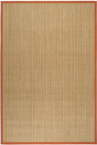 4' x 6' Rectangular Safavieh Area Rug NF442B-4 Red Color Power Loomed India ''Natural Fiber Collection'' by Safavieh
