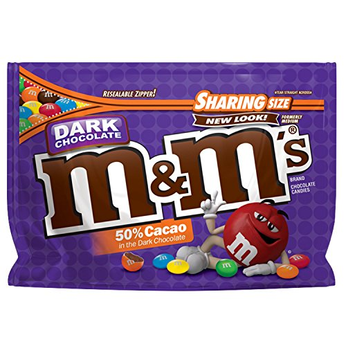 M&M'S Dark Chocolate Candy Sharing Size 10.1-Ounce Bag]()