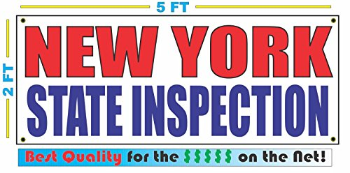 NEW YORK STATE INSPECTION All Weather Full Color Banner - Outlets State New York