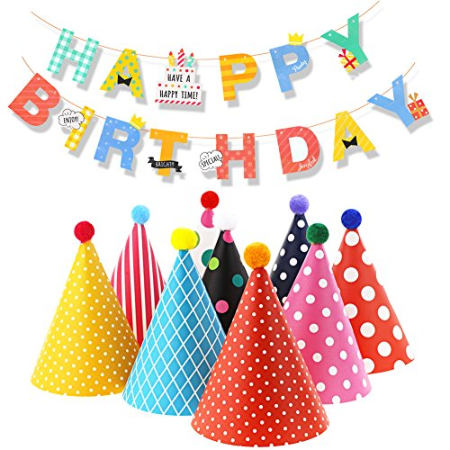 Lowest Prices! Birthday Party Hats and Banners