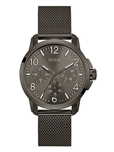 GUESS-Mens-Quartz-Stainless-Steel-Casual-Watch-ColorGrey-Model-U1040G2