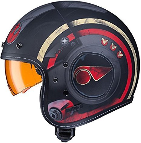 HJC IS-5 Star Wars Poe Dameron 3//4 Motorcycle Helmet Black Small