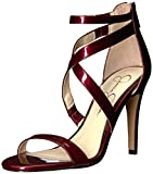 #8: Jessica Simpson Women's Ellenie Heeled Sandal, Nude Patent, 9 Medium US