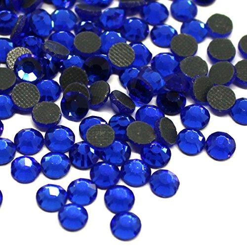 Zbella Crystal Hot Fix Rhinestones 10 Gross (1440 Stones/pkg) Hotfix Rhinestones (ss10, Sapphire) ()