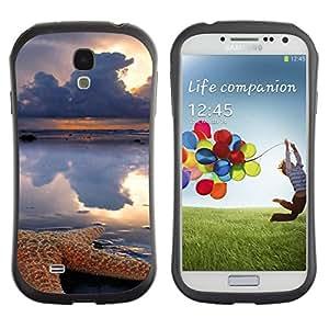 Paccase / Suave TPU GEL Caso Carcasa de Protección Funda para - Clouds Sun Rain Sea Nature - Samsung Galaxy S4 I9500