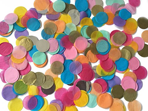 Fecedy Assorted Color Circles Tissue Paper Confetti 1 inch - Color Circle