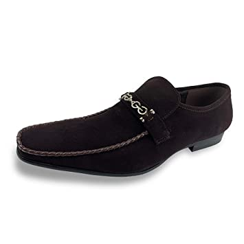 Mocasines de Ante Moc Toe de Ante para Hombre Vestidos Mocasines (Color : Marrón, Size : 41 EU): Amazon.es: Hogar