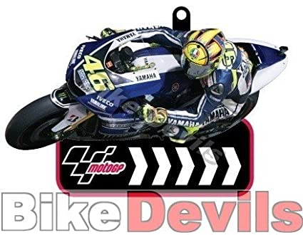 mgpkey94 MotoGP Valentino Rossi Porte-cl/é PVC Kry gousset SUPPORT MOTO MOTO GP 46