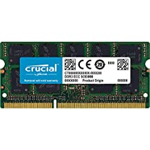 Crucial 8GB Single DDR3 1333 MT/s (PC3-10600) CL9 204-Pin 1.35V/1.5V SODIMM Memory For Mac CT8G3S1339M