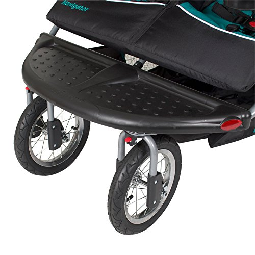 51wL0hDR4lL - Baby Trend Navigator Double Jogger Stroller, Tropic