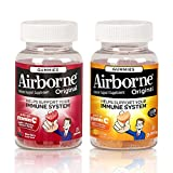 Airborne Immune Support Supplement Gummies, Mixed Berry 21 Ct & Orange 21 Ct, 1 ea