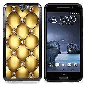 For HTC One A9 Case , Oro Diseño Diamante Bling del brillo - Diseño Patrón Teléfono Caso Cubierta Case Bumper Duro Protección Case Cover Funda