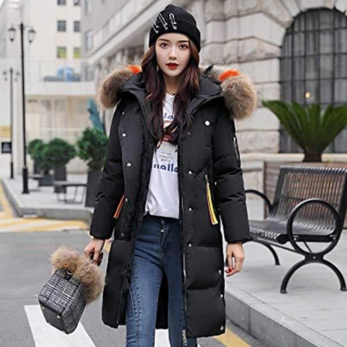 Capuche Blouson Jacket Chic Épais D'hiver Noir Femme À Outwear Mi Avec Poachers Coat Fausse Manteau Fourrure Matelassé Long Parka xCIn5pf