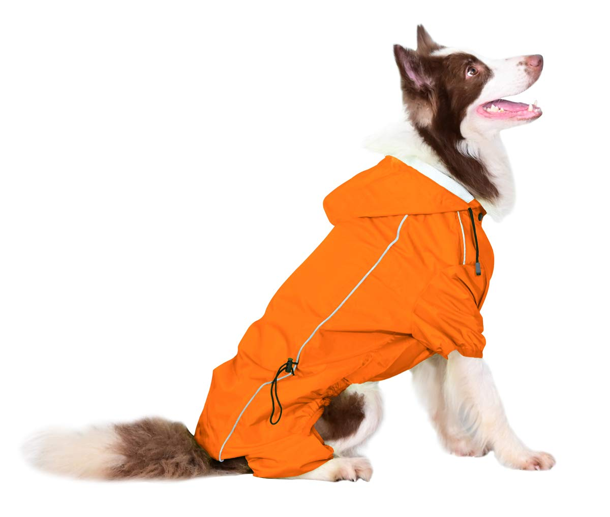 OSPet Summer Comfort Breathable Waterproof Four Feet Raincoat For Large Dog by OSPet