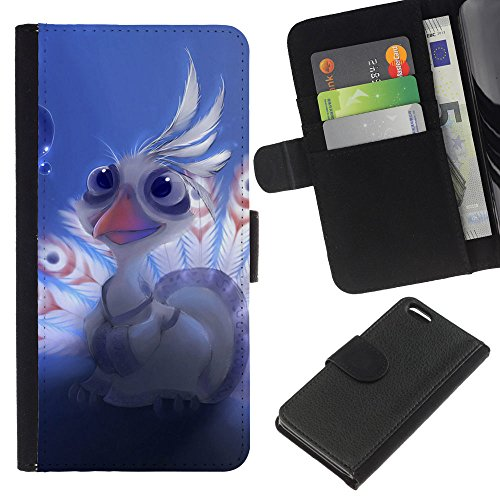 Lead-Star (Lord shen peacock Cute) Colorful Impression Holster Cuir Wallet Cover Housse Peau Cas Case Coque Pour Apple iPhone 5C