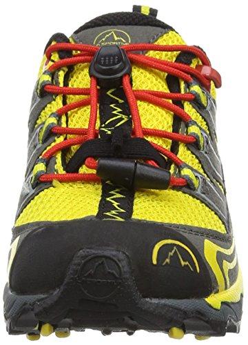 La Sportiva Falkon Low - Zapatillas de travesía para niño, color amarillo / negro, talla 34 Amarillo / Negro
