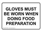 ComplianceSigns Aluminum Food Prep / Kitchen Safety Sign, 10 x 7 in. with English Text, White