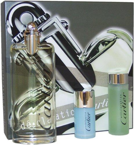Declaration Men Eau-De-Toilette Spray, All Over Shampoo and Alcohol-Free Deodorant Stick by (Declaration Spray Shampoo)