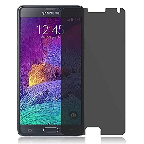 MXtechnic Privacy Screen Protector for Samsung Galaxy Note 4 Anti-Peep 9H Tempered Glass (Glass Privacy Screen For Note 4)