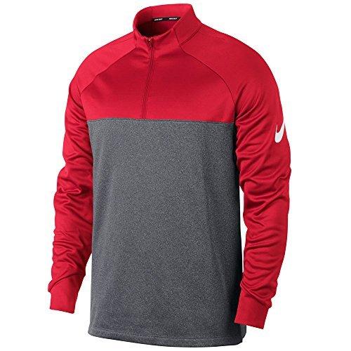 Nike Therma Core Half-Zip Men's Golf Top (Team Crimson/Dark Grey, Medium) -